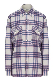 Голубая клетчатая рубашка Faxonli Isabel Marant