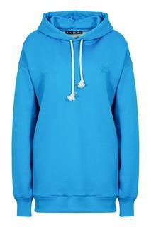 Синее худи с логотипом Acne Studios