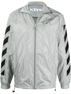 Off-White спортивная куртка на молнии с логотипом