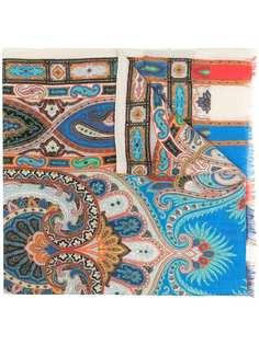 Etro шарф с геометричным принтом