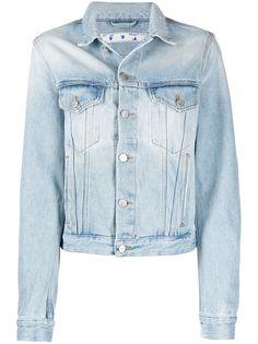 Off-White джинсовая куртка с логотипом Floral Arrows