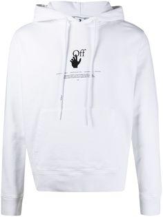 Off-White худи с логотипом