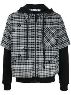 Off-White куртка-рубашка с капюшоном и логотипом Arrows