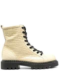 Just Cavalli ботинки в стиле милитари с тиснением под крокодила