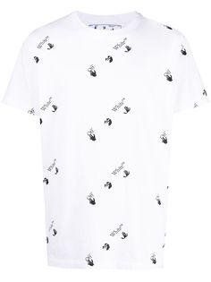 Off-White футболка с короткими рукавами и логотипом