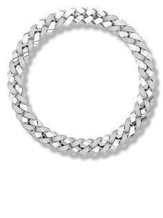 Pragnell цепочка на шею Cuba из белого золота с бриллиантами