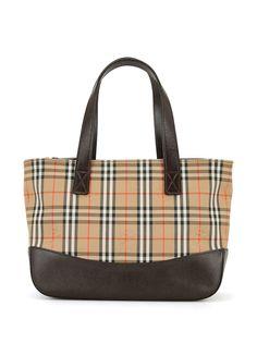 Burberry Pre-Owned сумка-тоут в клетку Nova Check
