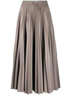 MSGM плиссированная юбка с завышенной талией