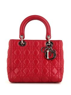 Christian Dior сумка-тоут Lady Dior Cannage pre-owned 2010-го года