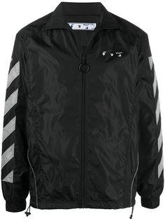 Off-White спортивная куртка с диагональными полосками