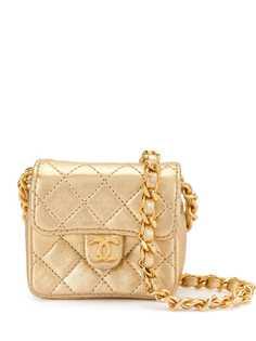Chanel Pre-Owned стеганая мини-сумка 1990-х годов
