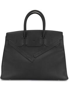 Hermès сумка-тоут Shadow Birkin 35 pre-owned 2020-го года Hermes
