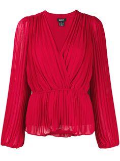 DKNY плиссированная блузка с запахом