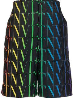 Valentino шорты-бермуды с логотипом VLTN