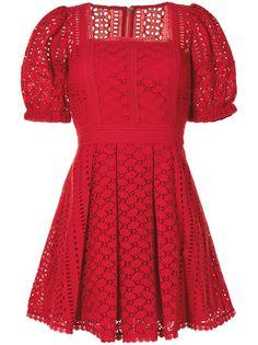 Self-Portrait платье мини с английской вышивкой