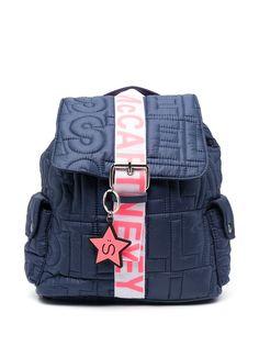 Stella McCartney Kids стеганый рюкзак с логотипом