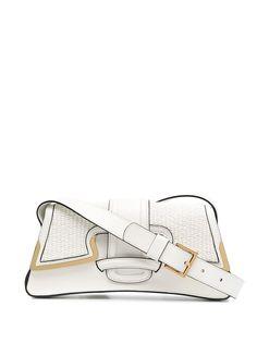 Alberta Ferretti сумка на плечо с плетеными вставками