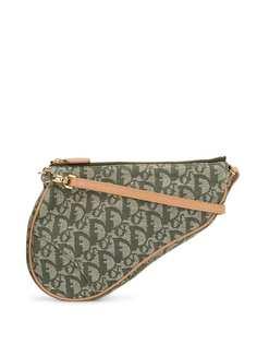 Christian Dior сумка на плечо Saddle pre-owned с узором Trotter