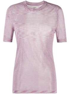 Isabel Marant Étoile прозрачная футболка в полоску