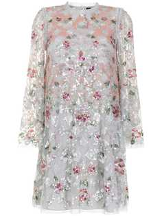 Needle & Thread платье мини Harlequin Rose с пайетками