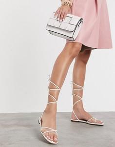 Белые сандалии с завязками Aldo-Белый