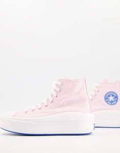 Нежно-розовые кроссовки Converse Chuck Taylor All Star Move-Розовый цвет