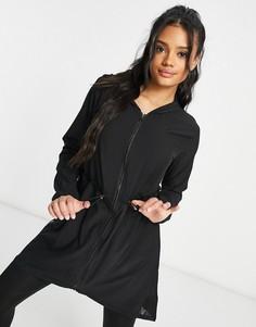 Черная струящаяся куртка Puma Studio-Черный цвет