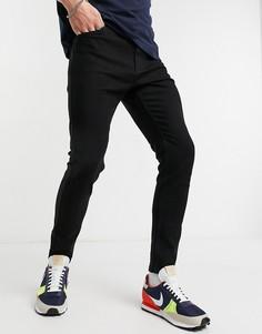 Черные супероблегающие джинсы Bershka-Черный цвет