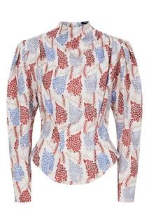 Хлопковая блузка с принтом Isabel Marant