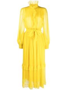 Etro платье макси с оборками