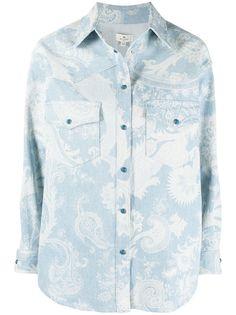 Etro джинсовая куртка с принтом пейсли