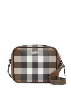 Burberry клетчатая сумка через плечо с логотипом