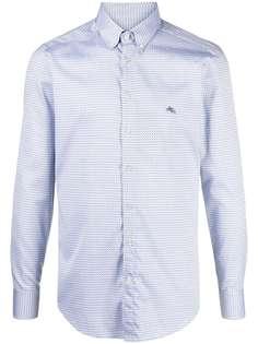 Etro рубашка на пуговицах с геометричным принтом