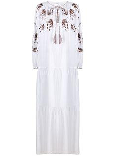 P.A.R.O.S.H. платье макси Cruel с вышивкой