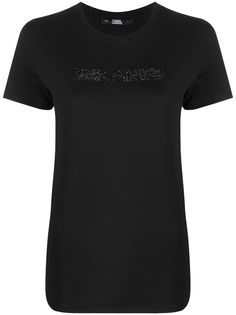 Karl Lagerfeld футболка с логотипом из страз