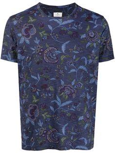 Etro футболка с цветочным принтом
