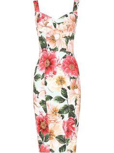 Dolce & Gabbana платье миди с цветочным принтом