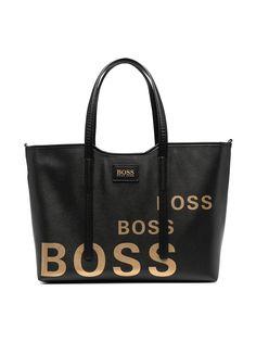 BOSS Kidswear пеленальная сумка из искусственной кожи с логотипом