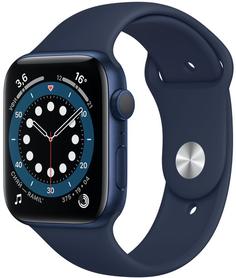 Смарт-часы Apple Watch S6 44mm Blue Aluminum Case with Deep Navy Sport Band (M00J3RU/A)
