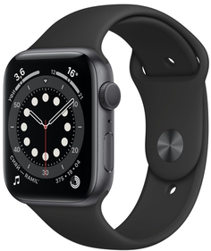 Смарт-часы Apple Watch S6 44mm Space Gray Aluminum Case with Black Sport Band (M00H3RU/A)