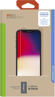 Защитное стекло InterStep глянцевое 0,3 мм для iPhone 8/7/6s/6 (IS-TG-IPHO00678-01IF00-ELBTUA3)