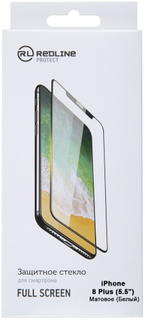 Защитное стекло Red Line для iPhone 8 Plus White (УТ000012643)