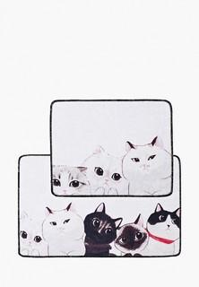 Комплект Chilai Home ковриков для ванной, 60x100 и 50x60 см