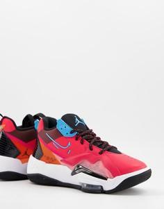 Красно-голубые кроссовки Jordan Zoom 92-Красный