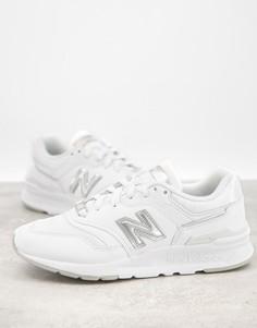Белые кроссовки с серебристыми вставками New Balance 997H-Белый