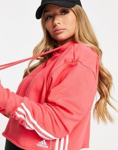 Розовый спортивный худи adidas-Розовый цвет