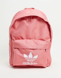 Дымчато-розовый рюкзак с трилистником adidas Originals-Розовый цвет