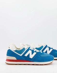 Голубые кроссовки New Balance 574-Голубой