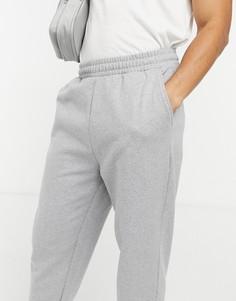 Серые меланжевые джоггеры oversized ASOS DESIGN-Серый
