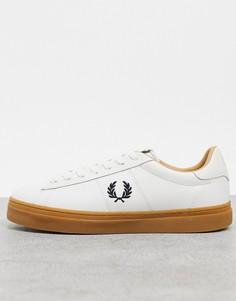 Белые кожаные кроссовки на резиновой подошве Fred Perry Spencer-Белый